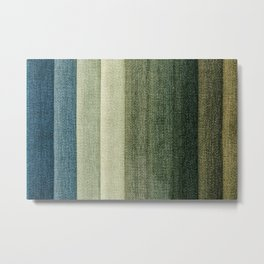 Simple Fabric Texture Metal Print