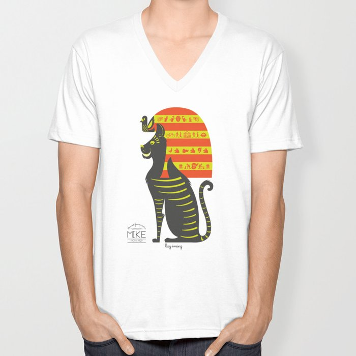 Mike - the Most Famous Cat in London Unisex V-Neck