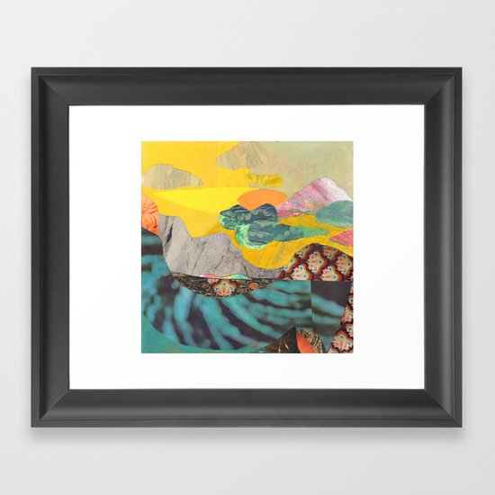 Yellow Sky Framed Art Print