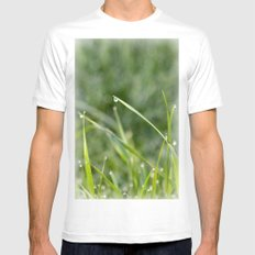 Morning Dew Mens Fitted Tee MEDIUM White