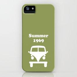Summer 1969 - Green iPhone Case