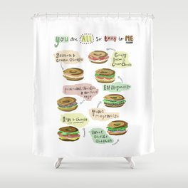 Bagel Biology Shower Curtain