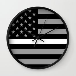 EMS: Black Flag & Thin White Line Wall Clock