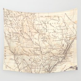 Vintage Map of South Carolina (1779) Wall Tapestry