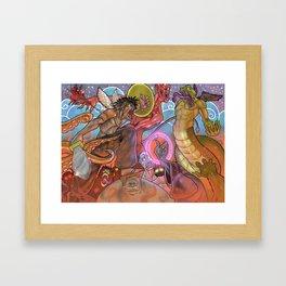 Battle for the heavens Framed Art Print