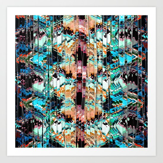 Colorful Abstract In Shreds Art Print