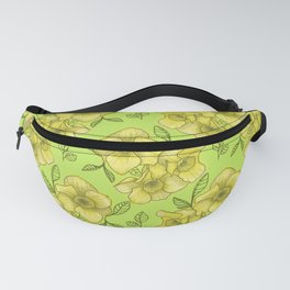 daffodil with green background Fanny Pack