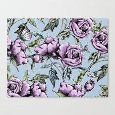 Summer Rose Garden Canvas Print