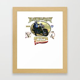 Black Hills Rally Framed Art Print