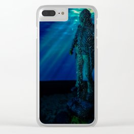Only way to kill Jason is to send him back to his original resting place where he drowned in 1957... Clear iPhone Case