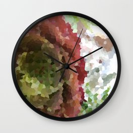 Crystallized Red Succulent Wall Clock