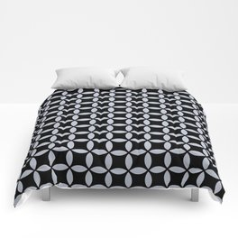 Ticking on Black Comforters
