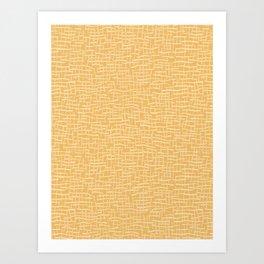 Woven Burlap Texture Seamless Vector Pattern Yellow Art Print