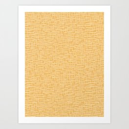 Woven Burlap Texture Seamless Vector Pattern Yellow Art Print