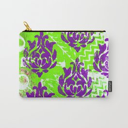 Purple Damask. Carry-All Pouch