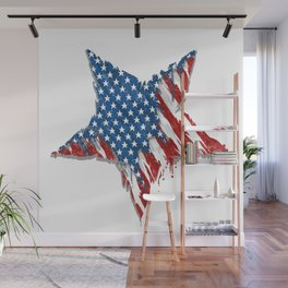 Distressed Betsy Ross Flag Tees (Classic, Front) Star Wall Mural