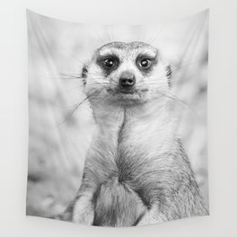 Meerkat portrait Wall Tapestry