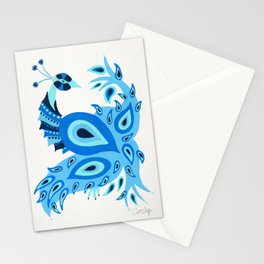 Peacock – Ice Blue Palette Stationery Cards