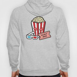 Movie Pattern in Dark Blue Hoody