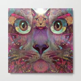 Catnip Conscience (Electric Catnip) Metal Print