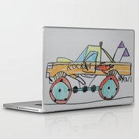 truck Laptop & iPad Skins featuring Rocket Truck by Ryan van Gogh