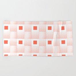 Rachel's Wavy Coral Pattern Beach Towel