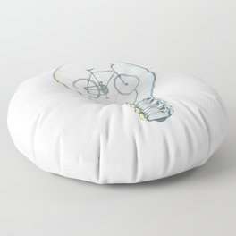 Light Bicycle Bulb Floor Pillow