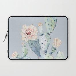 Prettiest Rose Cactus Blue Laptop Sleeve