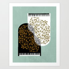 The Entertainers - Two Pianos Art Print