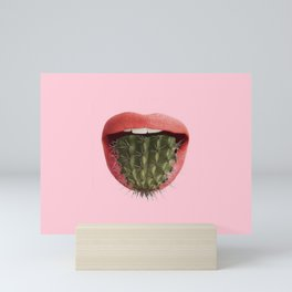 Cactus Mouth Mini Art Print