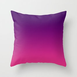 Ombre gradient digital illustration purple red colors Throw Pillow