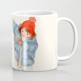 When does the first snow of the year fall? Coffee Mug