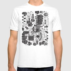 BUILD A CITY White MEDIUM Mens Fitted Tee