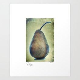 The Blue Bosc Art Print