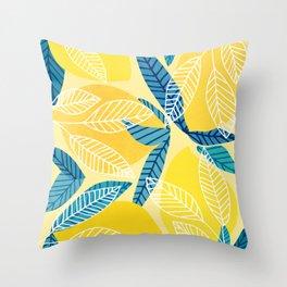 Lemon Tree / Abstract Fruit Art Throw Pillow