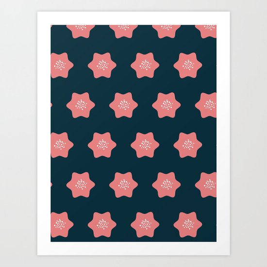 Summer pattern Art Print