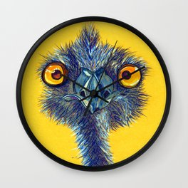 staring contest Wall Clock