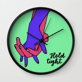 Hold Tight Hand Holding Wall Clock
