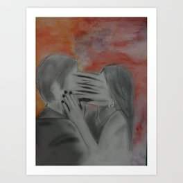 She couldn't let go  Art Print