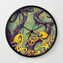 Epiphycadia III: Teal Wall Clock