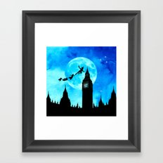 Magical Watercolor Night - Peter Pan Framed Art Print