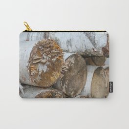 Birch Logs Carry-All Pouch