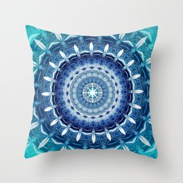 Absolute Zero Mandala Throw Pillow