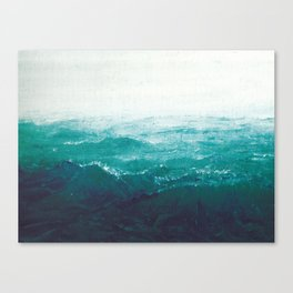 Turquoise Sea Oil Painting Canvas Print