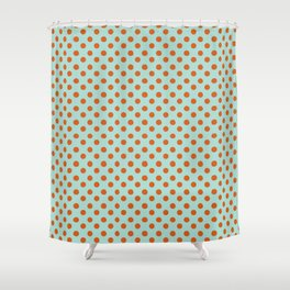 Polka Dot Frenzy Shower Curtain