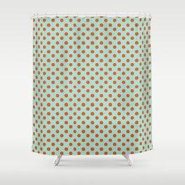 Polka Dot Frenzy Shower Curtain