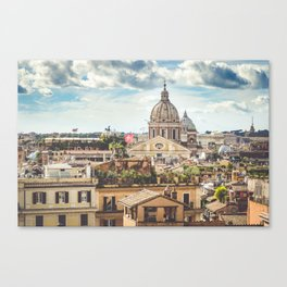 Rome rooftops Canvas Print
