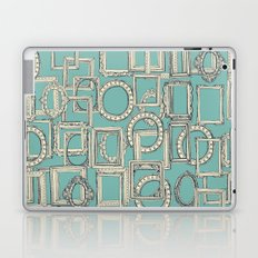 picture frames aplenty indigo duck egg blue Laptop & iPad Skin