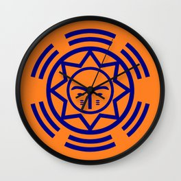 African Shield In Two Colors Wall Clock