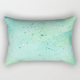 Blue and Green Abstract Rectangular Pillow
